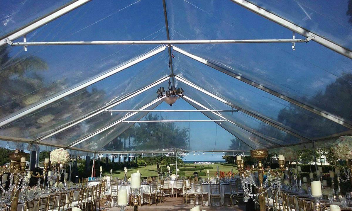 Clear Tent Rentals Broward Miami Palm Beach Wedding