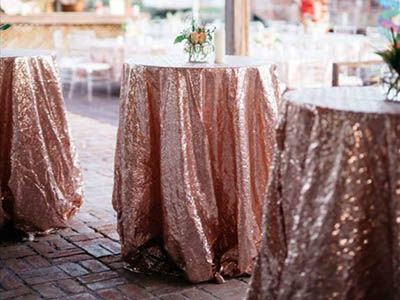 wedding table linens rental