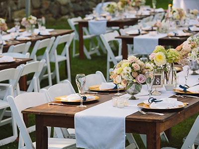 vintage tables and chairs rental boca raton