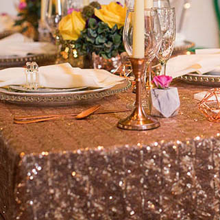 Sequin Tablecloth Rentals